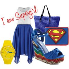 """""""SuperGirl"""" by kestrelicious on Polyvore"""