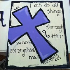 canvas painting ideas with bible verses | Cross bible verse painting ...
