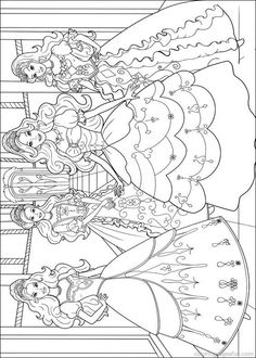 Barbie and the Three Musketeers Coloring Pages 11