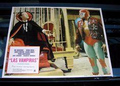 LAS VAMPIRAS MEXICAN LOBBY CARD JOHN CARRADINE MEXICAN WRESTLER EL SANTO