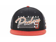 New Era MLB San Diego Padres Snapback Hats Caps Black Red 3935! Only $8.90USD