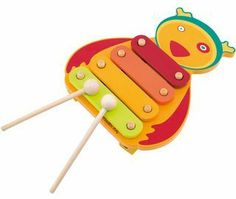 Xylophone by Moulin Roty. $24.00. Measurements: 25.5 x 22 cm. Materials: wood. Age: 3+. Small - but fully working- wooden xylophone.    Decorated in bright Dragobert colours and measuring 25.5 x 22 cm