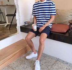Stunning 40 Casual Male Summer Outfits Ideas You Will Totally Love Summer Outfits Men, Short Outfits, Trendy Outfits, Fashion Outfits, Casual Male Outfits, Men Summer, Simple Outfits, Fashion Tips, Mode Masculine