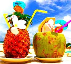 What is better than a drink out of a pineapple by the beach? =)