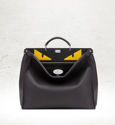 52ff99dfcda33 Get one of the hottest styles of the season! The Fendi Selleria Peekaboo  Black Calf Leather Shoulder Bag is a top 10 member favorite on Tradesy.