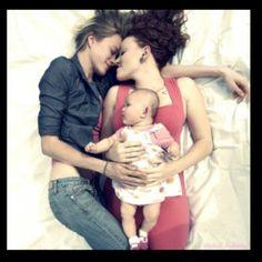 Beautiful lesbian family