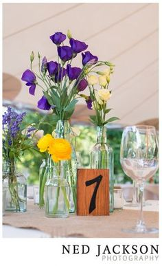 Rustic floral centerpiece at a spring wedding at Willowdale Estate.  Florals: Whim Events Photo: Ned Jackson