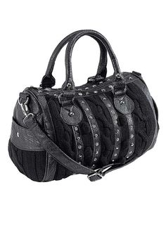 17a201e038a Stud Detailed Handbag - Trendy handbag with a zip fastening, embellished on  the front with