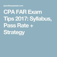 499 best cpa exam images on pinterest cpa exam exam study and cpa far exam tips 2017 syllabus pass rate strategy fandeluxe Choice Image