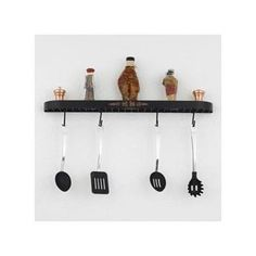 Hi-Lite Monterey Wall Mounted Pot Rack Accent Finish: None, Base Finish: Satin Steel (cannot choose accent finish)