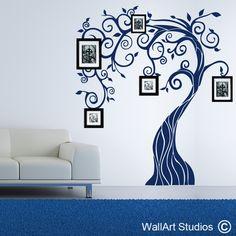 border designs for wall   Nouveau Tree - Wallart Studios