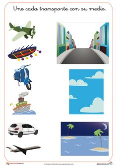 Actividades varias Transportation Preschool Activities, Transportation Unit, Fun Activities For Toddlers, Montessori Activities, Kindergarten Activities, Educational Activities, Learning Activities, Early Education, Kids Education
