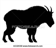 mountain goat shilouette clipart | Illustration - mountain goat silhouette. fotosearch - search clipart ...