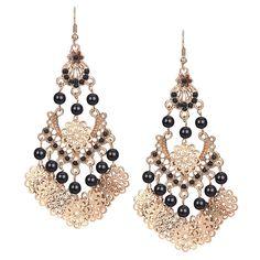 Drop Earrings With Bead Detail