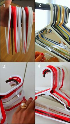 how to pack & move hangers without them getting all tangled. Yay!