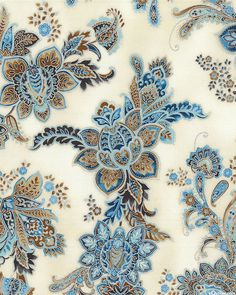 La Scala 7 - Juliet's Garden - Ivory/Silver. Fabric from eQuilter.com