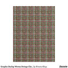 Graphic Burlap Woven Strings Christmas