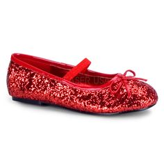 FUNTASMA STAR-16G Red Glitter Ballet Flat