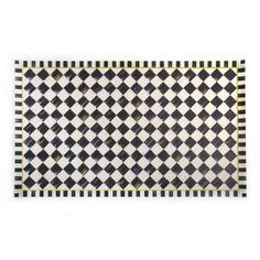 MacKenzie-Childs Courtly Check Floor Mat - x Vinyl Floor Mat, Vinyl Flooring, Floor Mats, Best Doll House, Mckenzie And Childs, Rug Runners, Braided Rugs, Buy Kitchen, Bold Stripes