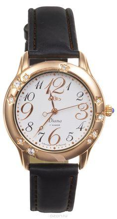 Часы женские наручные Mikhail Moskvin Диана, цвет: золотой, белый, черный. 596-8-2