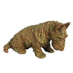 Bronze Scottish Terrier | From a unique collection of vintage figurines and sculptures at http://www.1stdibs.com/jewelry/objets-dart-vertu/figurines-sculptures/