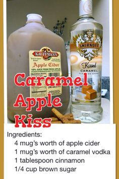 Frozen Olaf Salt Dough Christmas Ornament Holiday drink Caramel Apple Vodka Kiss, This is it, I have been looking for this one. Smirnoff Caramel Vodka, Carmel Vodka Drinks, Smirnoff Apple, Salted Caramel Vodka, Apple Vodka, Caramel Apples, Apple Caramel, Moonshine Drink Recipes, Vodka Recipes