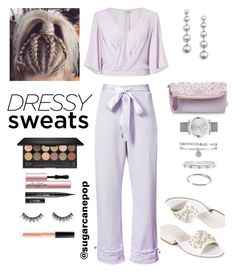"""""""Dressy Sweats"""" by sugarcanepop on Polyvore featuring Puma, Movado, Miss Selfridge, Burberry, Anne Klein, Cartier, Kate Spade, Stuart Weitzman, Too Faced Cosmetics and Huda Beauty"""