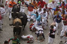 Running of the bulls.