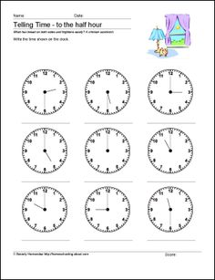 10 Math Worksheets to Help Your Child Tell Time: What Time is It? - Worksheet 3