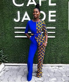 Rock the Latest Ankara Jumpsuit Styles these ankara jumpsuit styles and designs are the classiest in the fashion world today. try these Latest Ankara Jumpsuit Styles 2018 African Fashion Designers, African Inspired Fashion, African Dresses For Women, African Print Fashion, African Attire, African Wear, African Women, African Clothes, Ankara Fashion