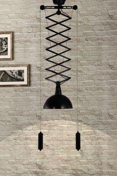 Emerald Antique Black/Gold Ceiling Lamp