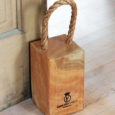 Recycled Wood Doorstop  Love This! Not Hard To Make Either!