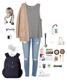 """School"" by kansas-girl0 on Polyvore featuring River Island, H&M, Kofta, Casetify, Converse, Simply Gum, Vera Bradley, Essie, Spectrum and MAC Cosmetics"