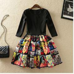 NOT sammydress - http://www.storenvy.com/products/6111475-womens-spring-new-stitching-slim-sleeve-dress 44$