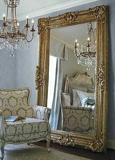 Make a grand statement in your home with the stunning Josephine Floor Mirror; boasting ornate, glamorous details and sure to make any space seem bigger. I love the molding around the mirror. Ornate Mirror, Vintage Mirrors, Victorian Mirror, Large Mirrors, Spiegel Design, Interior Decorating, Interior Design, Design Interiors, Beautiful Mirrors