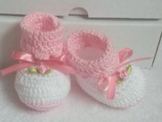 Botinha de croche para bebe