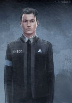 Detroit become human Connor By: babytreeheart.tumblr.com
