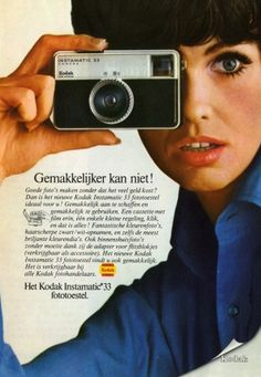 Dutch vintage 1960s Kodak Instamatic camera advertisement.