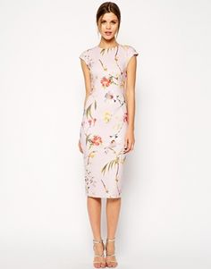 Enlarge Ted Baker Botanical Bloom Print Midi Dress