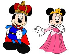 Prince Mickey and Princess Minnie - Sleeping Beauty - disney fan art