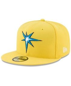 New Era Boys' Tampa Bay Rays Players Weekend 59FIFTY Fitted Cap - Yellow 6 3/8