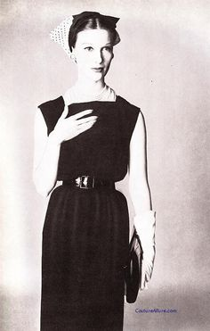 Little black dress by Henry Rosenfeld, 1955.  Photo by Irving Penn.  Couture Allure Vintage Fashion