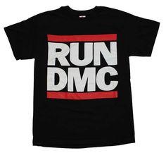 New Black Run DMC Classic Logo Red Black Rap Band Tour Shirt Sm-XL Men's Women's #SP #Concert