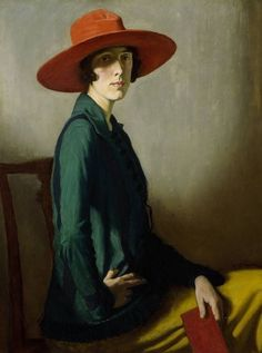 LADY WITH RED HAT (1918) | WILLIAM STRANG | KELVINGROVE ART GALLERY. Portrait of Vita Sackville-West.