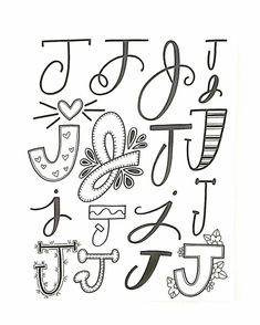 Hand Lettering inspiration with letter J