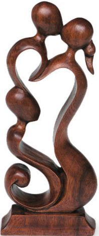 Hand Made Wood Sculpture, 'Loving Family' A beautiful celebration of love and family. #gifts #handmade #wood #sculpture #family