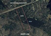 SOLD!! 10 Acres Pond, Shed. Adjacent to 1,000 Acres of Crown Land with Lakes. $29,900.