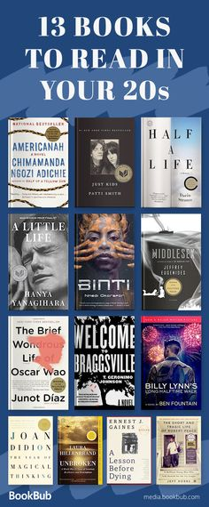 List of books to read in your 20s, including books for women and men.