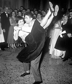 The Boogie Woogie originated from Rock 'n Roll. It was first danced in the 1930's and became popular in the 1950's. Rock 'n Roll got its name in the 1950's also.