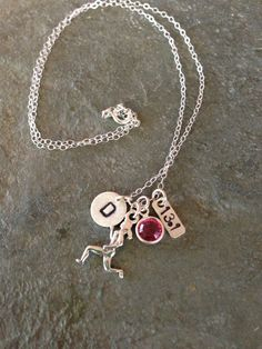 Runner Girl Sterling Silver Charm Necklace 131 by BeachCoveJewelry, $40.00